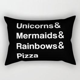 Unicorns & Mermaids & Rainbows & Pizza Rectangular Pillow