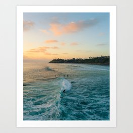 Golden Hour Surf Art Print