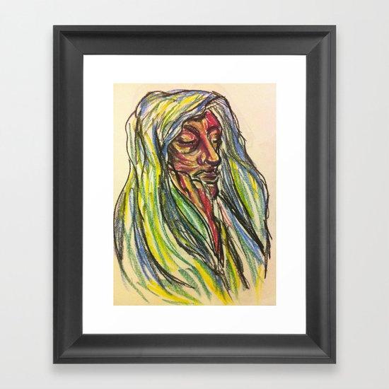 Mourn-Rose. Framed Art Print