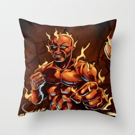 Cluster Fight Throw Pillow