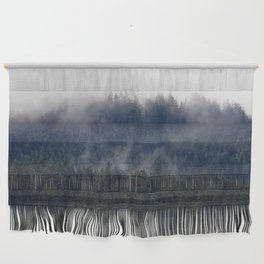 Misty Pine Trees Pacific Northwest Wall Hanging