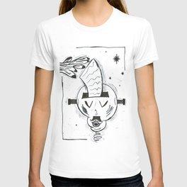 French Frankenstein Printer Grabs WHT T-shirt