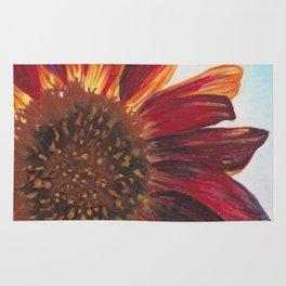Purple Sunflower Rug