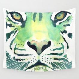 Green Tiger Wall Tapestry
