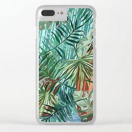Tropical Abundance Clear iPhone Case