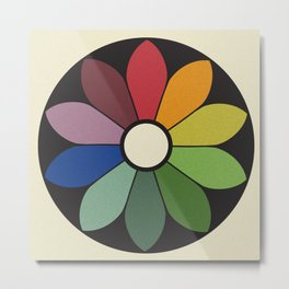 James Ward's Chromatic Circle Metal Print