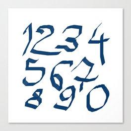 Chiffres bleus Canvas Print