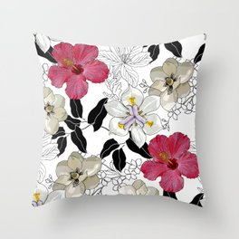 BOTANICAL BLISS Throw Pillow