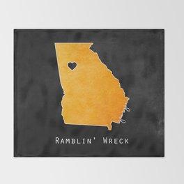 Ramblin' Wreck Throw Blanket