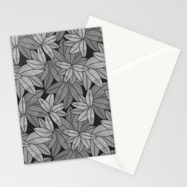Black & White Leaves By Everett Co Stationery Cards