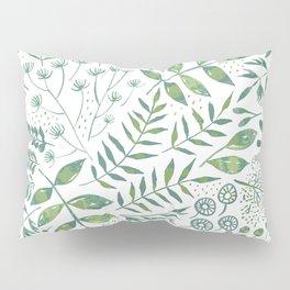 Leafy Greens : Green Pillow Sham