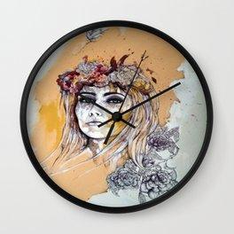 female model Wall Clock
