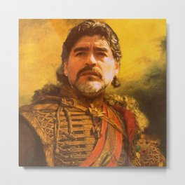 maradona - replace face Metal Print