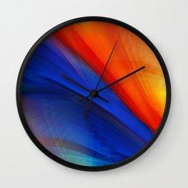 Bright orange and blue Wall Clock