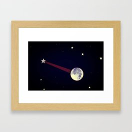 Moon Banjo Framed Art Print