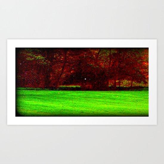 Red Trees 0ne Art Print