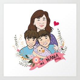 #1 NANA Art Print