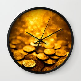 "Gold Coin Pulling Image...""The Secret"" If you see again and again, you can get it. Wall Clock"