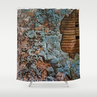 tapestry Shower Curtains featuring Tapestry by Kent Moody