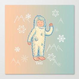 Yeti - Cute Cryptid Canvas Print