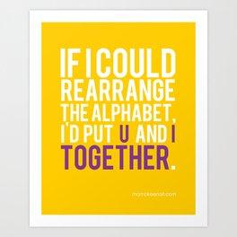 Alphabet Soup Art Print