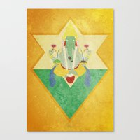 ganesha Canvas Prints featuring Ganesha... by Bastodesign