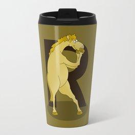 Monogram R Pony Travel Mug