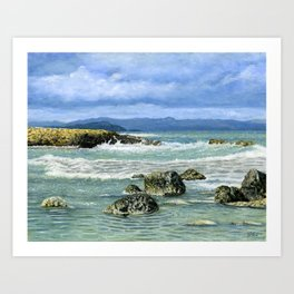 Tabakaria Waves, Chania, Crete Art Print