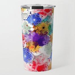 Printed Silk Exotic Garden Travel Mug