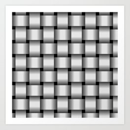 Large Pale Gray Weave Art Print