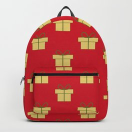Christmas gifts - red and gold Backpack
