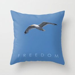 Blue Series #001 ~ Freedom Throw Pillow