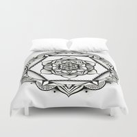 geometry Duvet Covers featuring Geometry by JWRIGGS