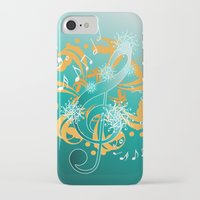 music notes iPhone & iPod Cases featuring Music Notes  by HK Chik