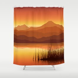 Sunset near Lake Shower Curtain