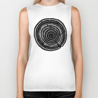 tree rings Biker Tanks featuring Tree Rings by Irene Leon