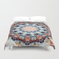 kaleidoscope Duvet Covers featuring kaleidoscope  by North 10 Creations