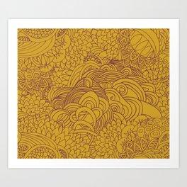 yellow seeds Art Print