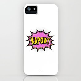 KAPOW! Comic Book iPhone Case