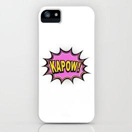 KAPOW! Comic Book iPhone Case