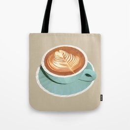 Coffee with Latte Art Polygon Art Tote Bag