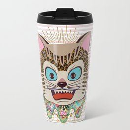 Wild cat enlightened Travel Mug