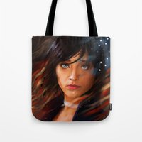 bioshock infinite Tote Bags featuring Broken Skies - Bioshock Infinite by AlexRusso