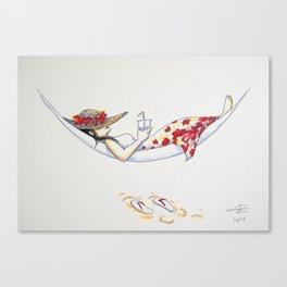 Inktober 2016: Wet Canvas Print