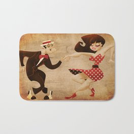 swing dance Bath Mat