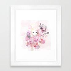 Emma - Bubble girl Framed Art Print