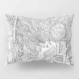 Kowloon walled city. Hong Kong Pillow Sham