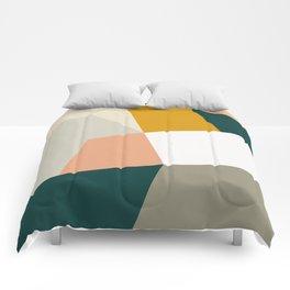 Abstract Geometric 27 Green Comforters