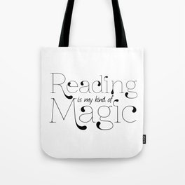 Reading Is My Kind Of Magic Tote Bag