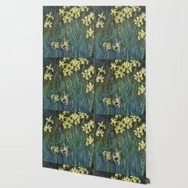 """Claude Monet """"Yellow irises"""" Wallpaper"""